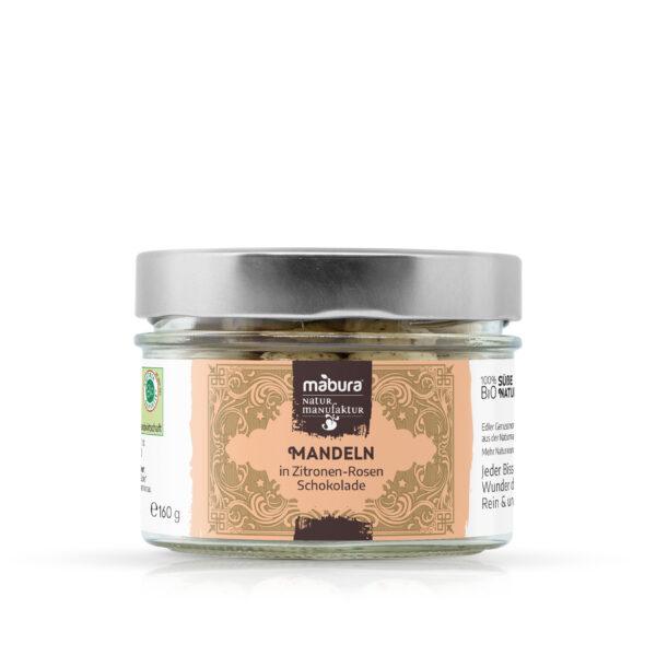 Mabura BIO Mandeln in Zitronen-Rosen Schokolade