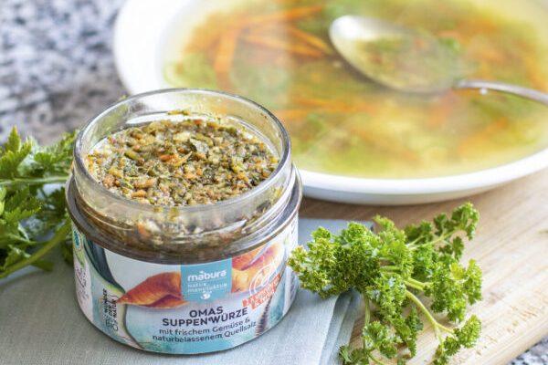 Mit den Mabura BIO Gewürzen schmackhafte Suppe zaubern